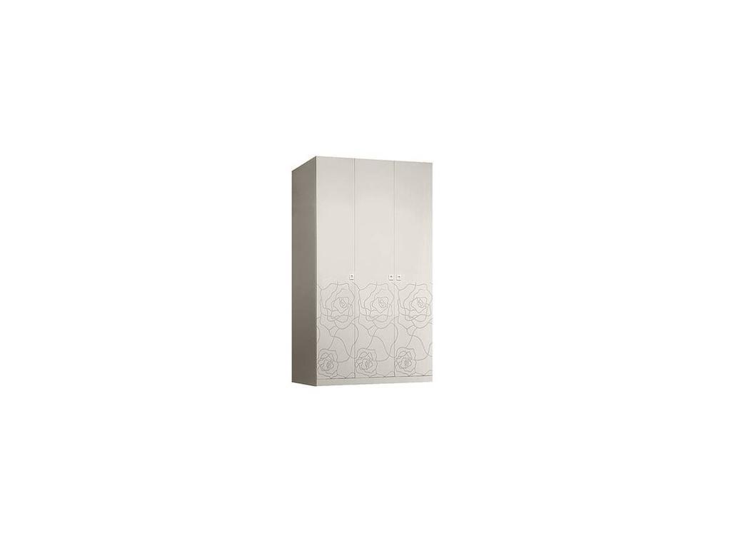 ЯМ: Роза: шкаф 3-х дверный  без зеркал (слоновая кость)