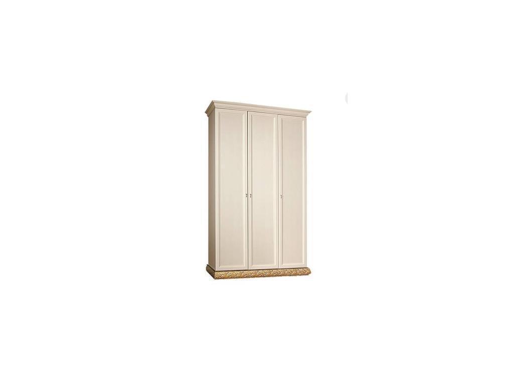 ЯМ: Тиффани: шкаф 3-х дверный  без зеркал (крем, золото)