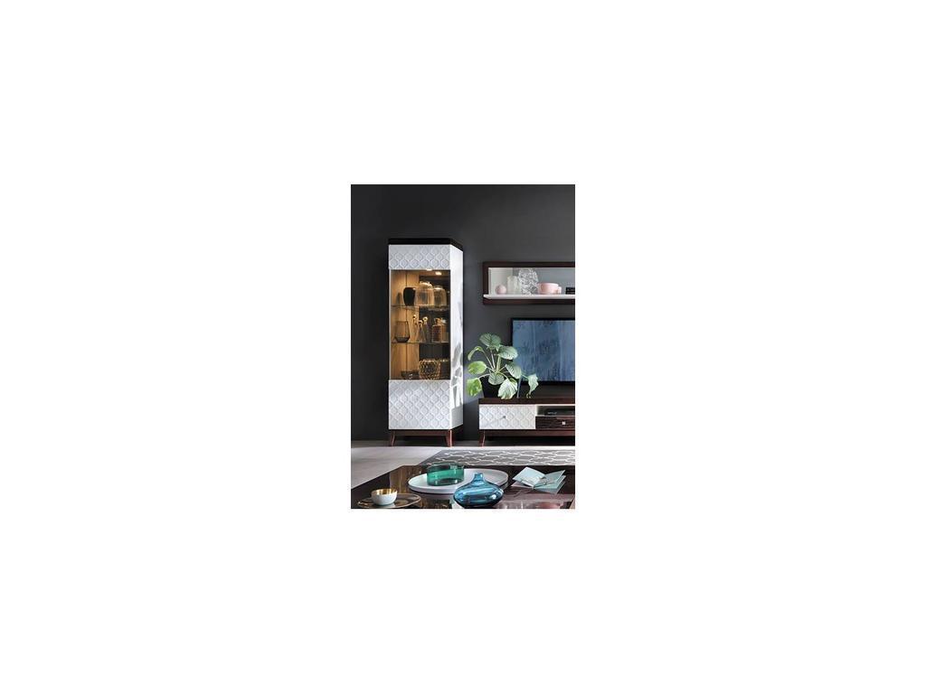 Taranko: Via: витрина 1 дверная  левая (белый, махагон)