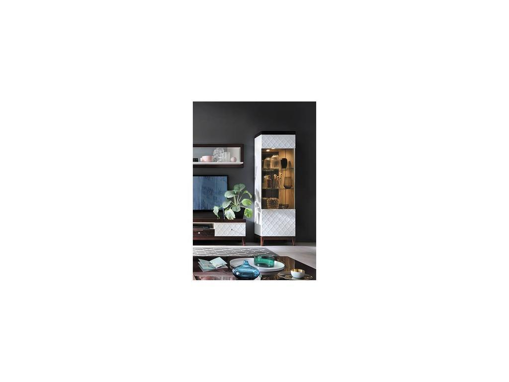 Taranko: Via: витрина 1 дверная  правая (белый, махагон)