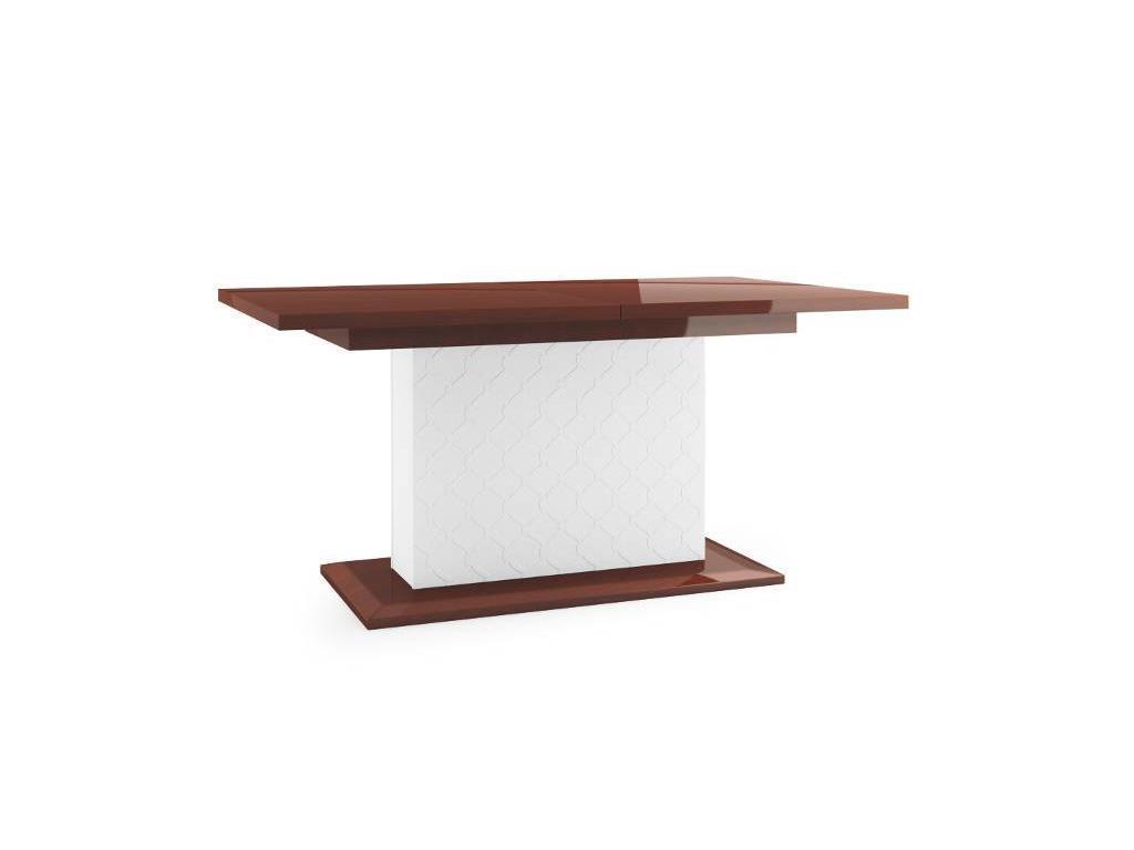 Taranko: Via: стол обеденный  раскладной (белый, махагон)