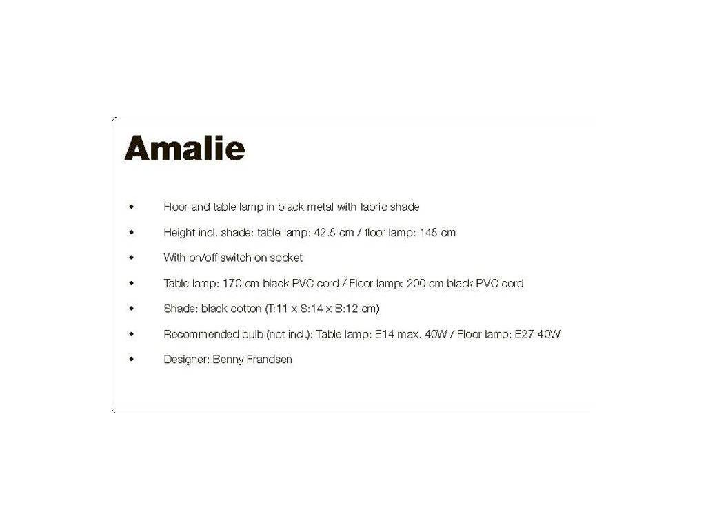 Frandsen: Amalie: лампа настольная  (черный)