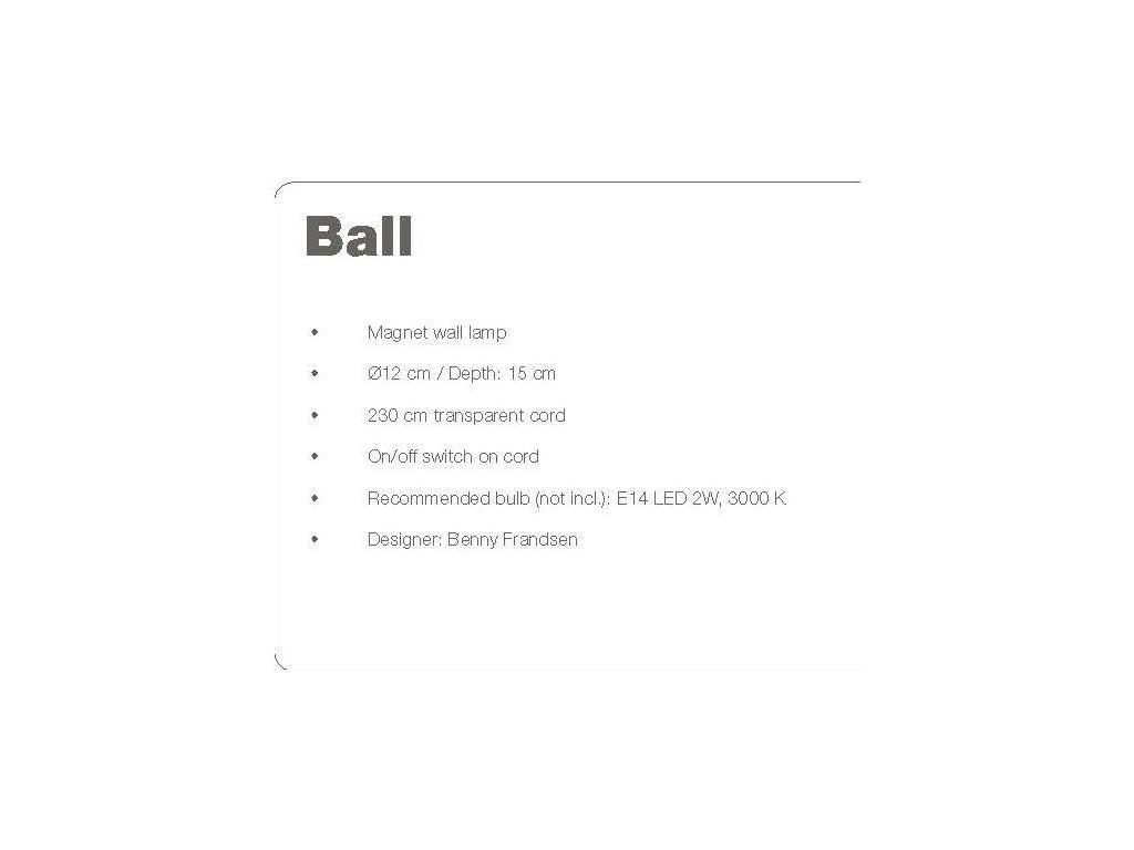 Frandsen: Ball: бра  (глянец)