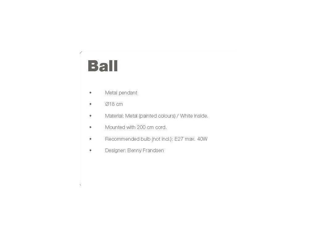 Frandsen: Ball: светильник подвесной  (черный глянцевый)