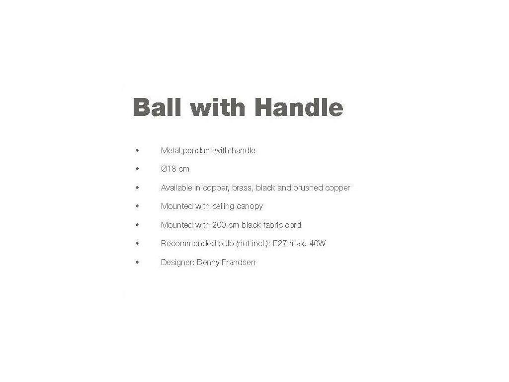 Frandsen: Ball with Handle: светильник подвесной  (медный)