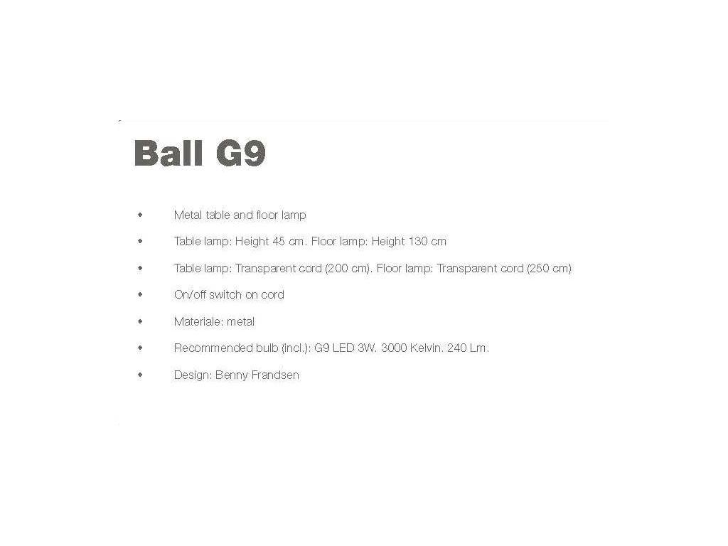 Frandsen: Ball: торшер  (медный)