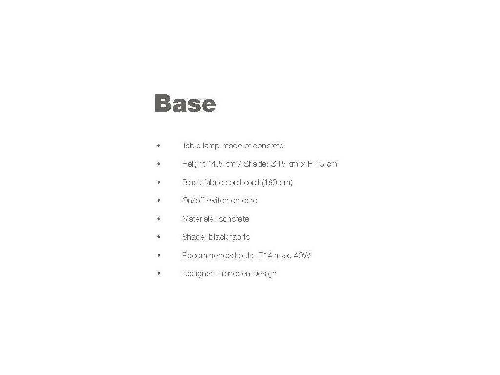 Frandsen: Base: лампа настольная  (черный)