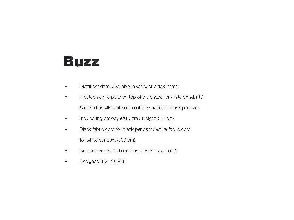 Frandsen: Buzz: светильник подвесной  (белый)