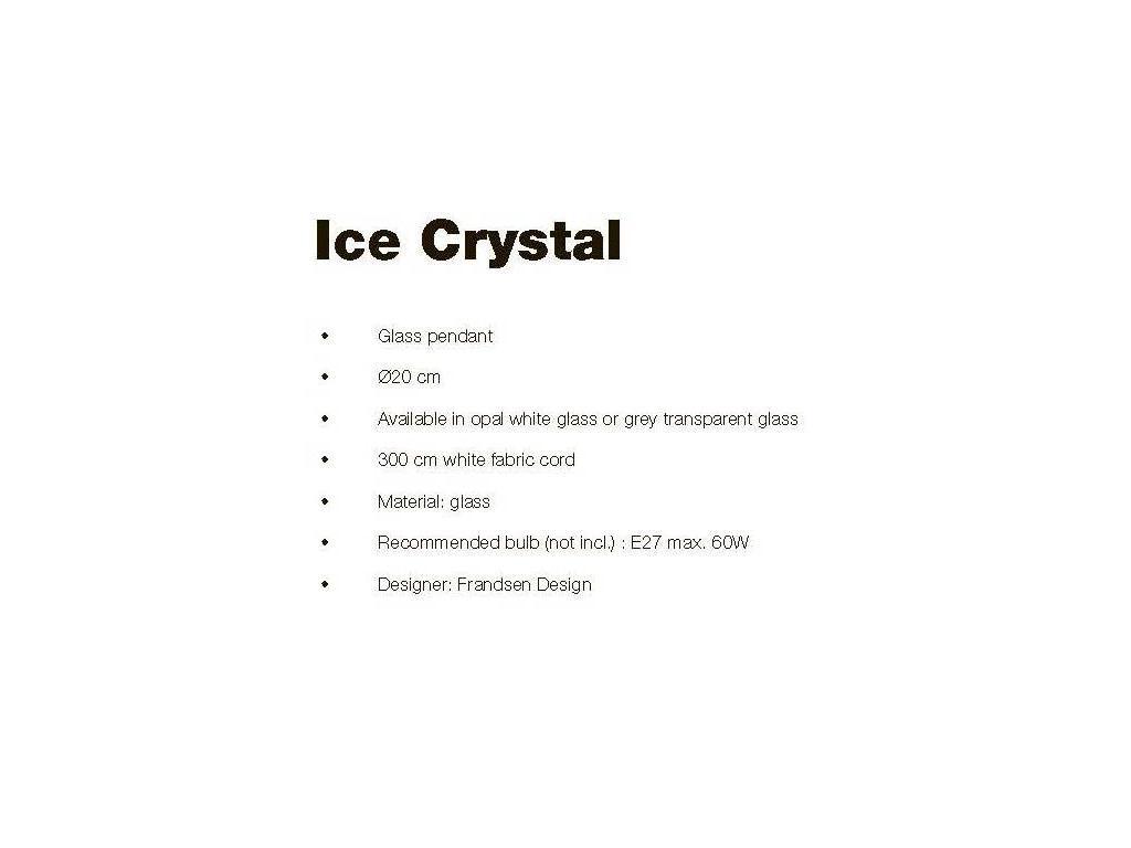 Frandsen: Ice Crystal: светильник подвесной  (белый)