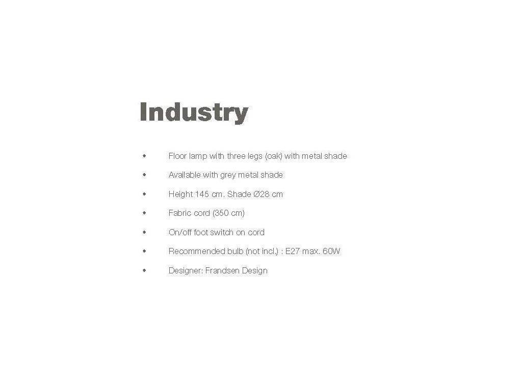 Frandsen: Industry: торшер  (серый)