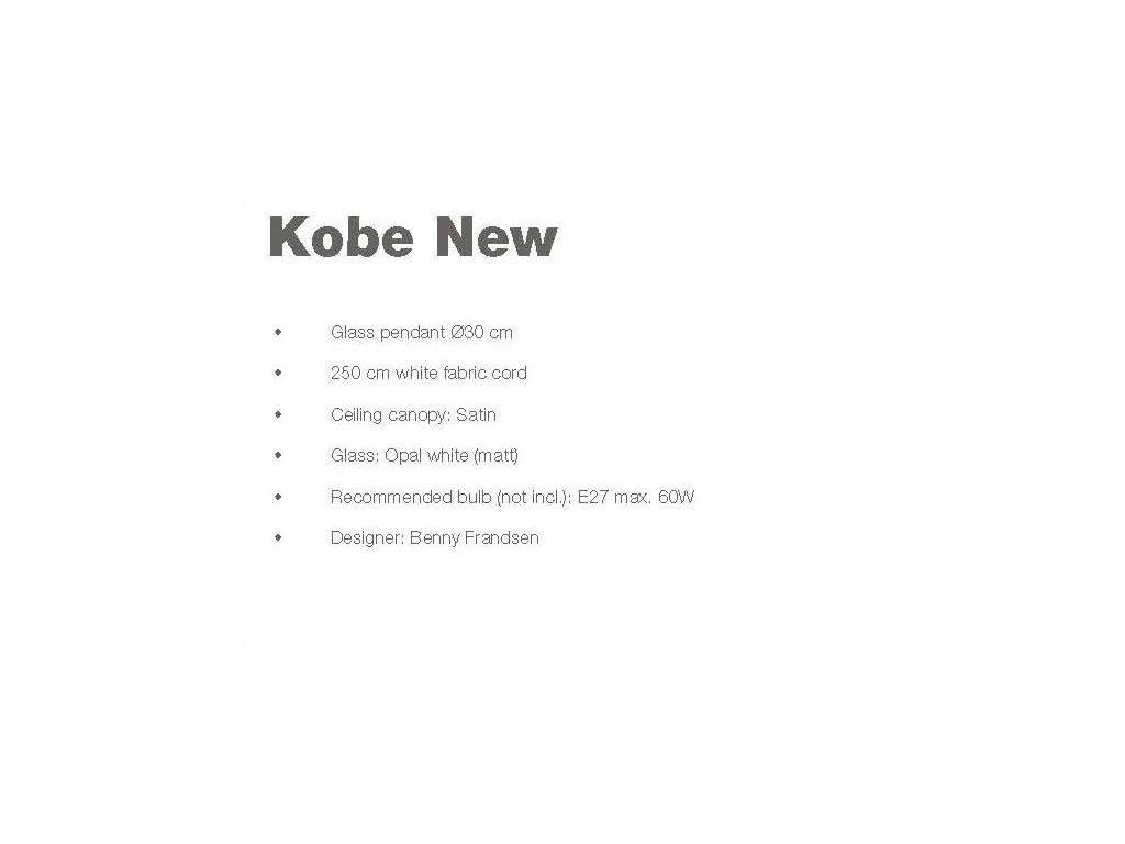 Frandsen: Kobe New: светильник подвесной  (белый сатин)