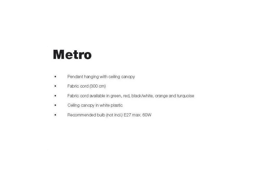 Frandsen: Metro: светильник подвесной  (зеленый)