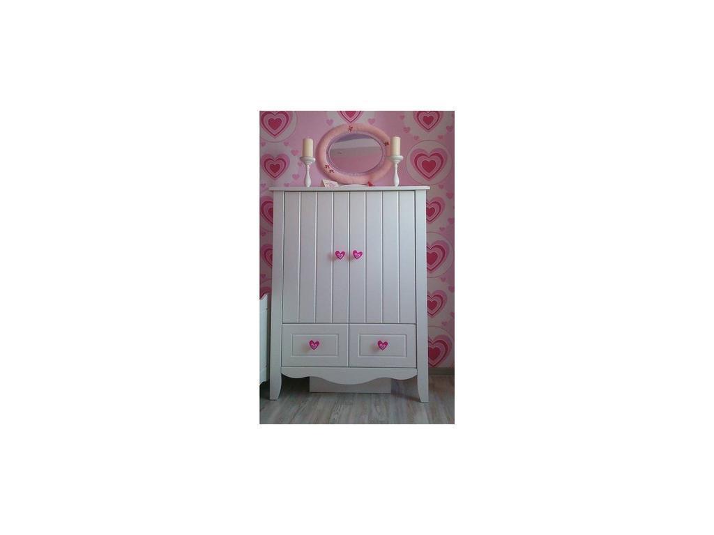Tomyniki: Grace: шкаф  низкий с 2-мя ящиками (белый)