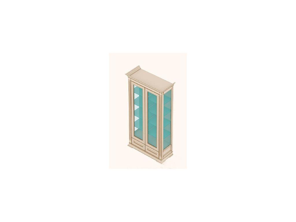 Buona Sera: Liberta: витрина 2-х дверная боковины стекло  (ольха)