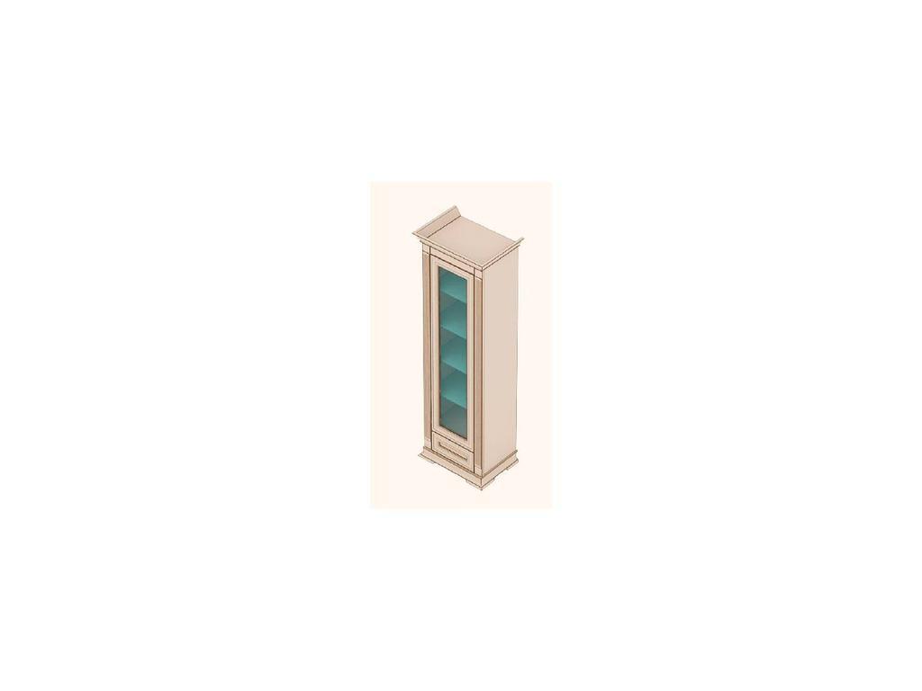 Buona Sera: Liberta: витрина 1 дверная  (белый)