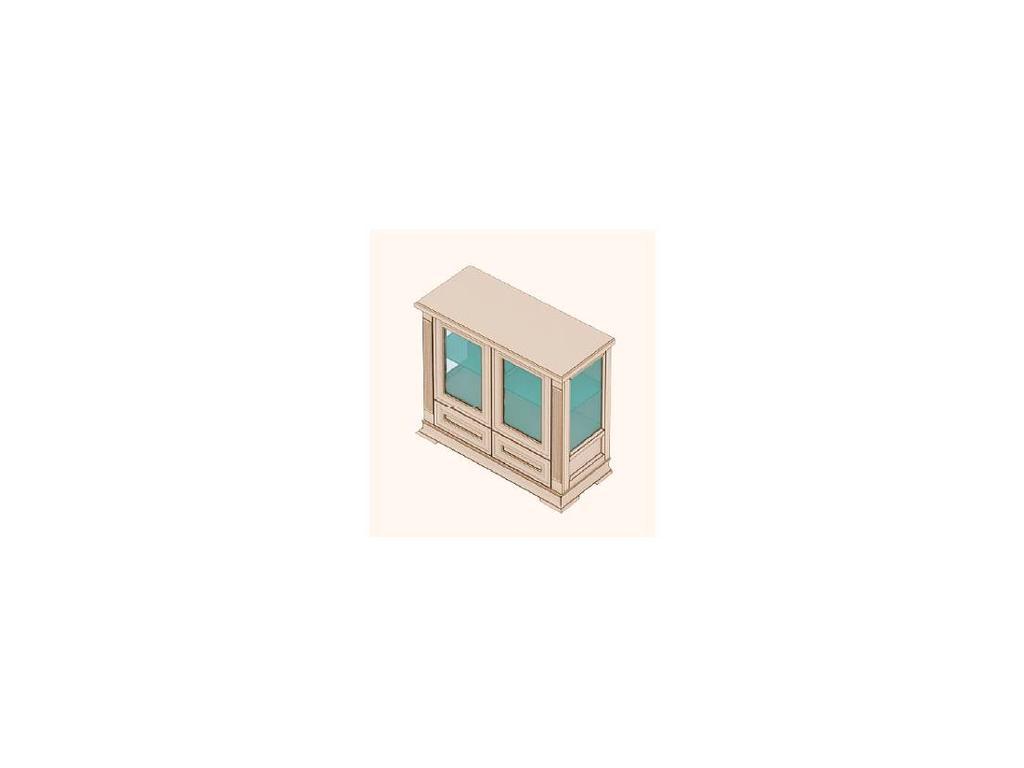 Buona Sera: Liberta: витрина низкая  2 дв (белый)