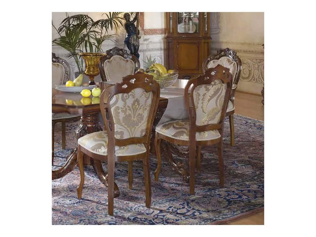 Claudio Saoncella: Verdi: стул с мягкой спинкой (белый) ткань160+150