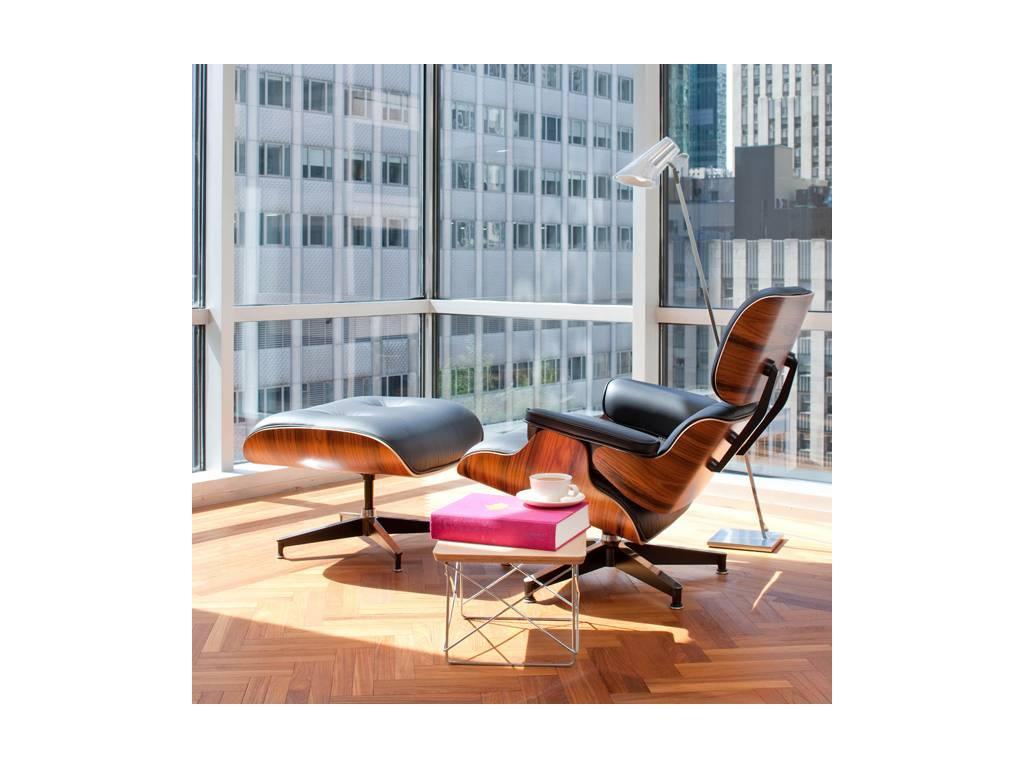 Dhome: Eames Lounge Chair & Ottoman: кресло  (кожа)