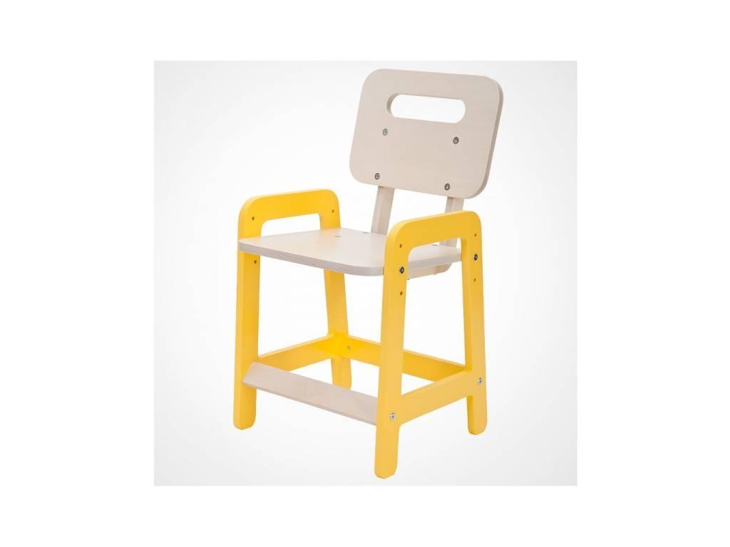 Лесные Мануфактуры: Точка-Тире: стул детский  регулируемый по высоте (белый, желтый)
