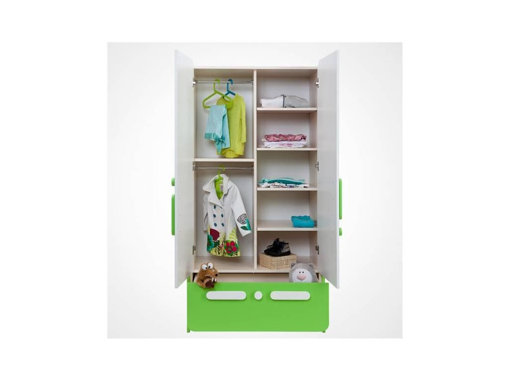 Лесные Мануфактуры: Точка-Тире: шкаф 2-х дверный  (белый, розовый)