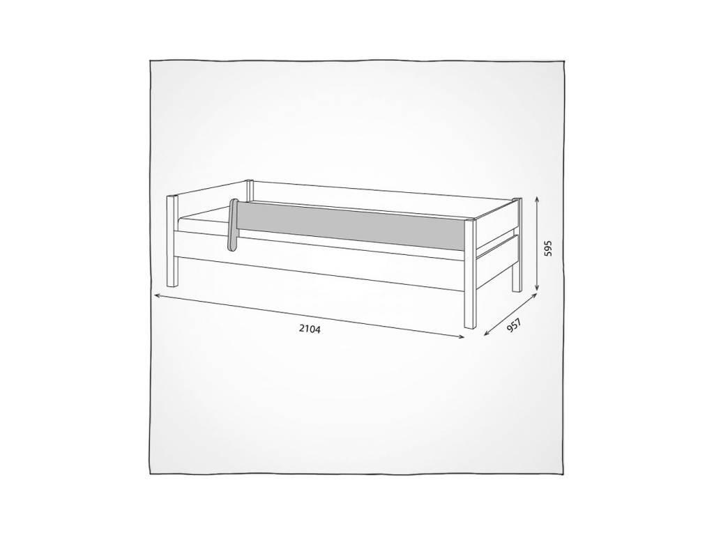 Лесные Мануфактуры: Каспер: бортик ограничительный для кровати  (белый  полупрозрачный)