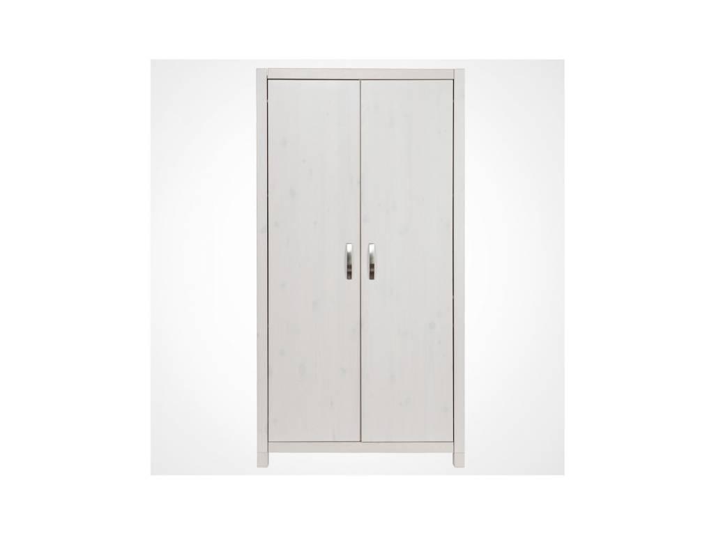 Лесные Мануфактуры: Каспер: шкаф 2-х дверный  (белый  полупрозрачный)