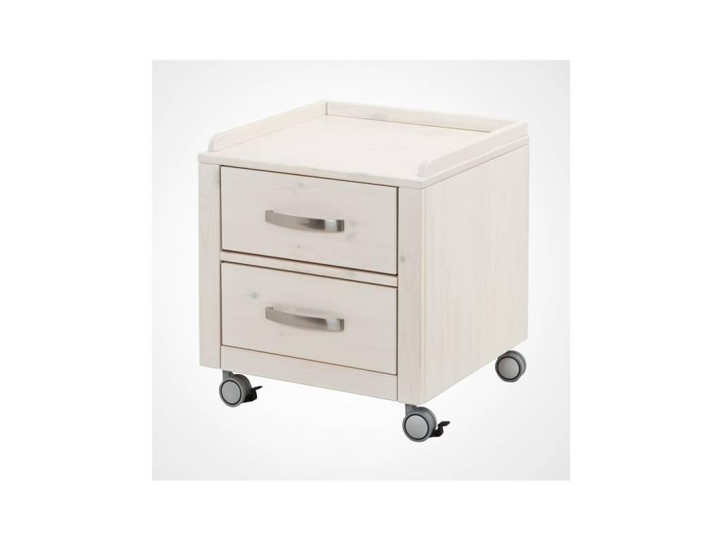 Лесные Мануфактуры: Каспер: тумба  для письменного стола (белый  полупрозрачный)