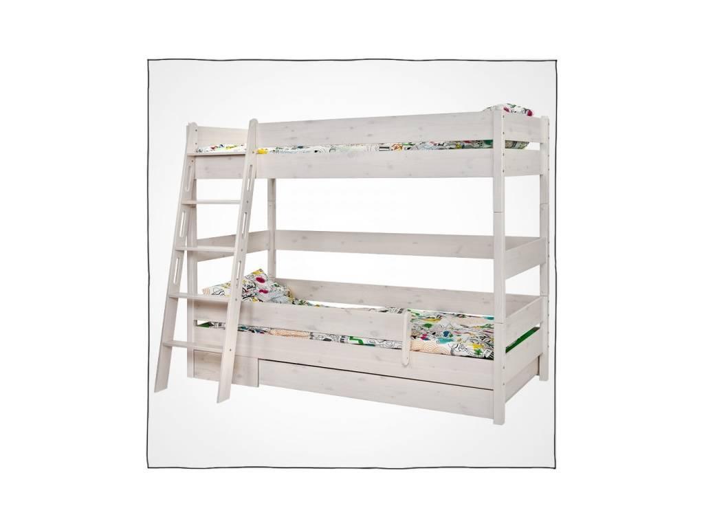 Лесные Мануфактуры: Каспер: кровать двухъярусная  90х190 (белый  полупрозрачный)