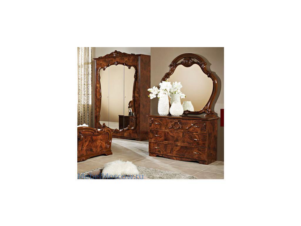 Dia: Тициана: комод с зеркалом (орех)