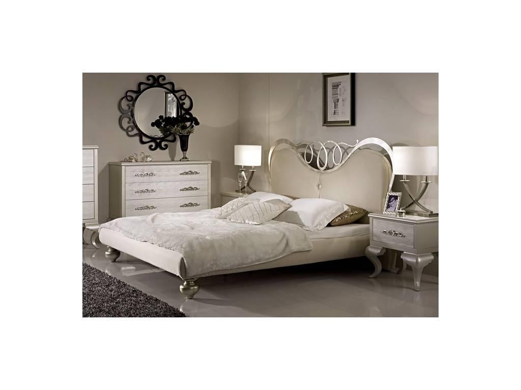 Hemis: кровать 160х200  (шампань, металл белое золото)