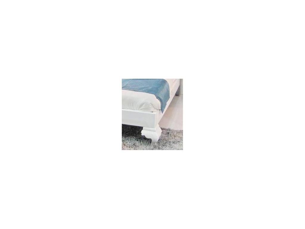 Hemis: кровать  160х200 (белый, ткань)
