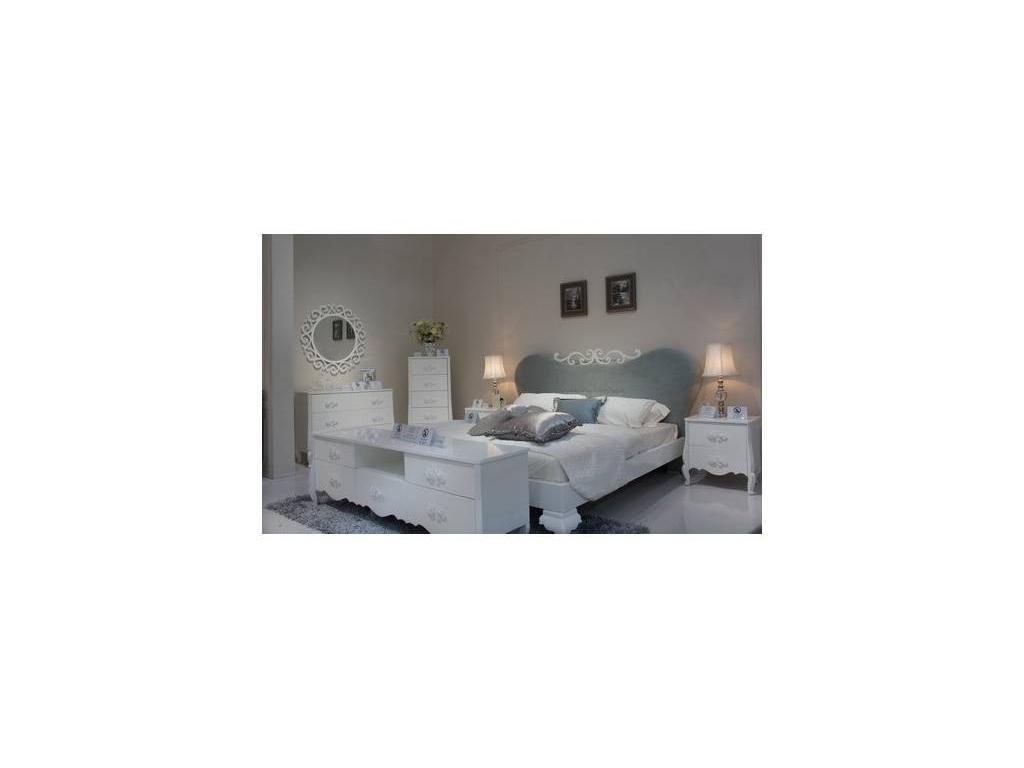 Hemis: кровать  180х200 (белый, ткань)