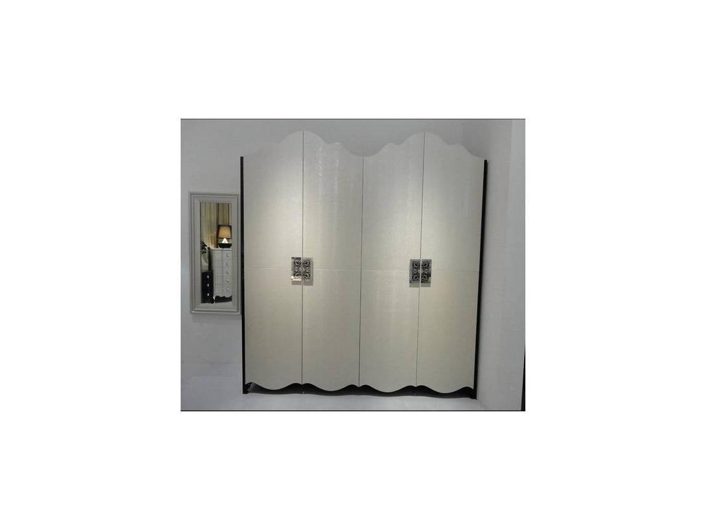 Hemis: шкаф 4-х дверный  (шампань, черный лак)