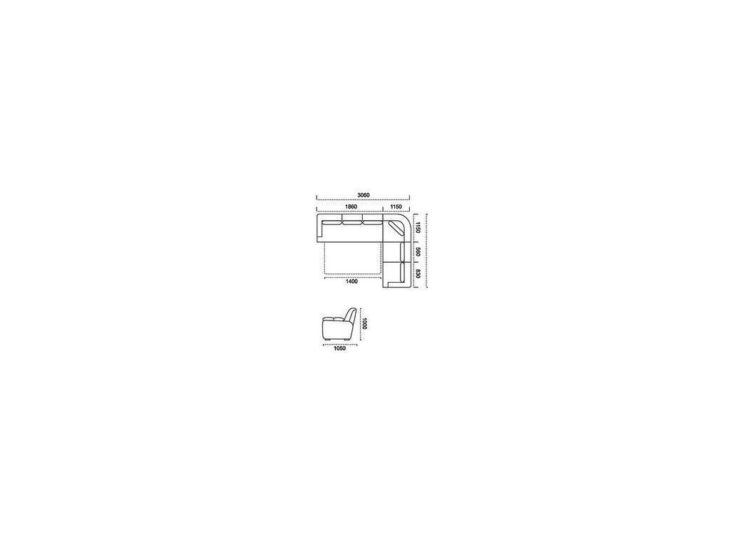 Nomec: ЕА42: диван угловой  (кожа 9219, коричневый)