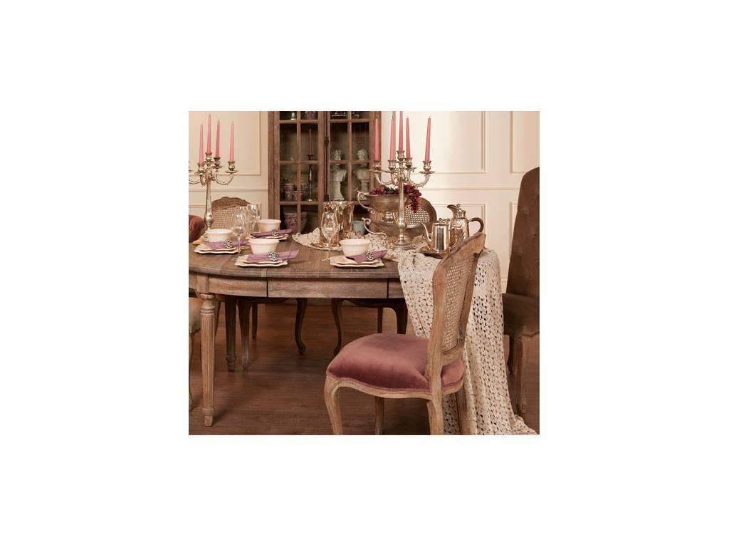 Astra: La Truffe: стул  (розовый бархат, брашированный дуб)