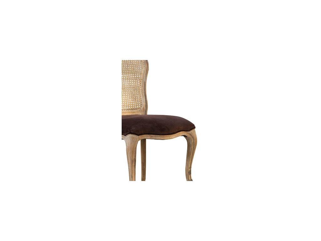 Astra: La Truffe: кресло  (шоколадный бархат, брашированный дуб)
