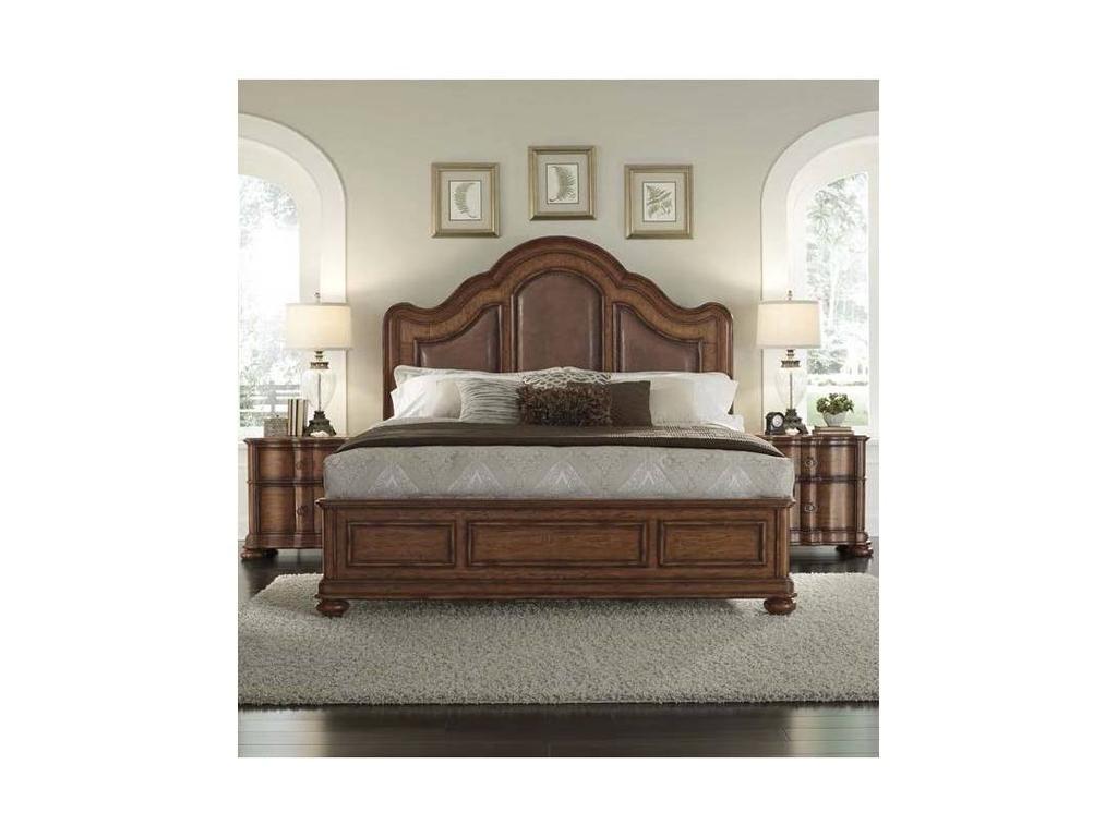 American: Quentin: кровать  200х200 (патинированный шпон каштана)