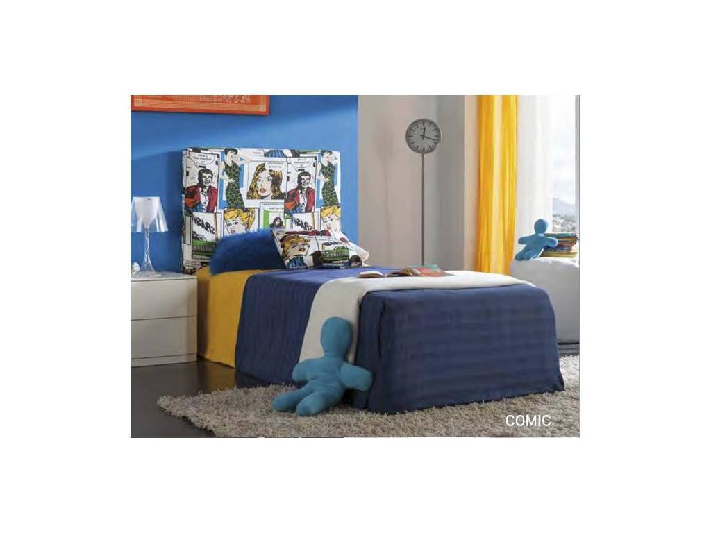Dupen: Comic: кровать односпальная  90х200 (ткань)