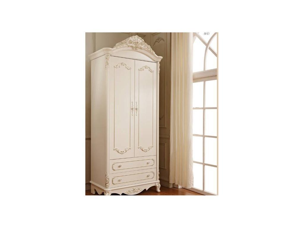 FR: Magdalene: шкаф 2-х дверный  (слоновая кость, серебро)