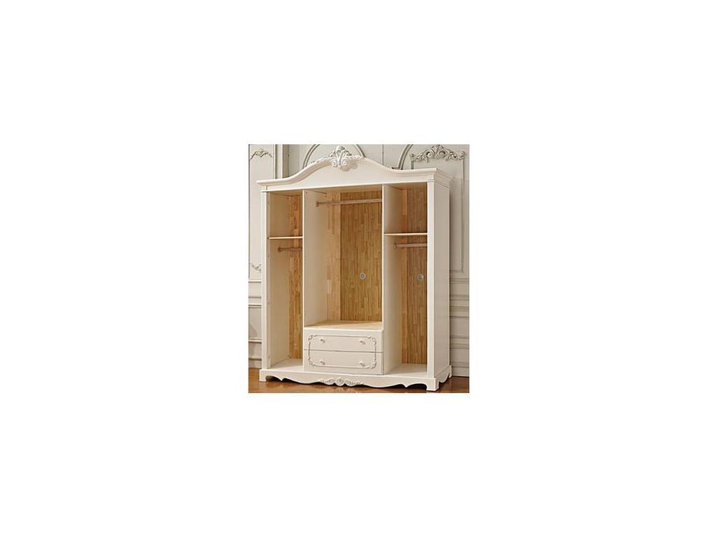 FR: Magdalene: шкаф 4-х дверный  (слоновая кость, серебро)