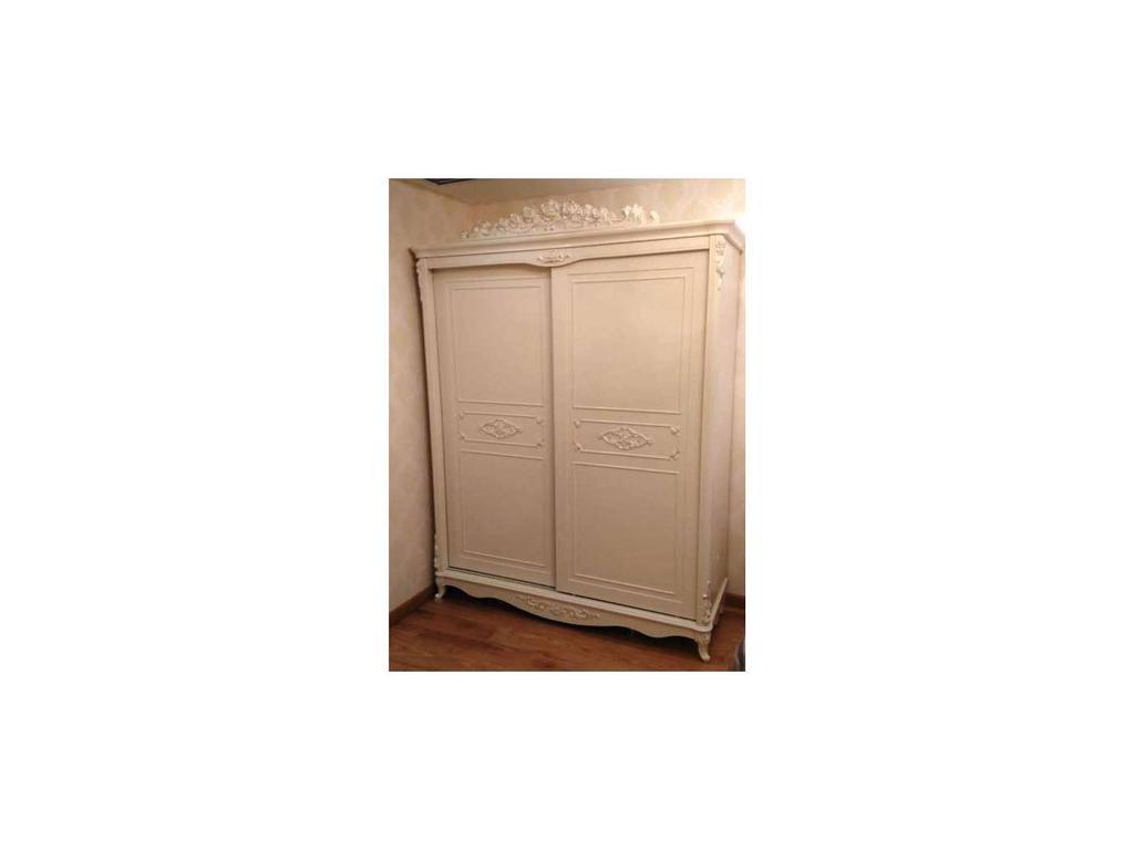 FR: Magdalene: шкаф-купе  2-х дверный (слоновая кость, серебро)