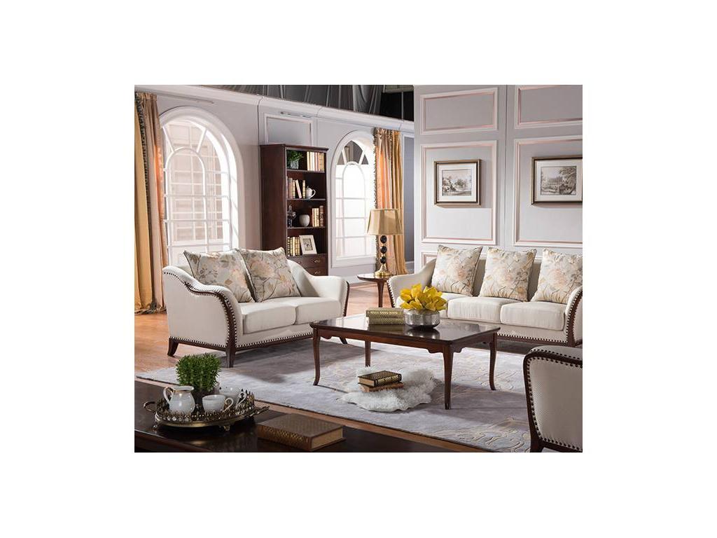 Carpenter: 309: диван 2-х местный  В (орех, ткань H11002A-1)