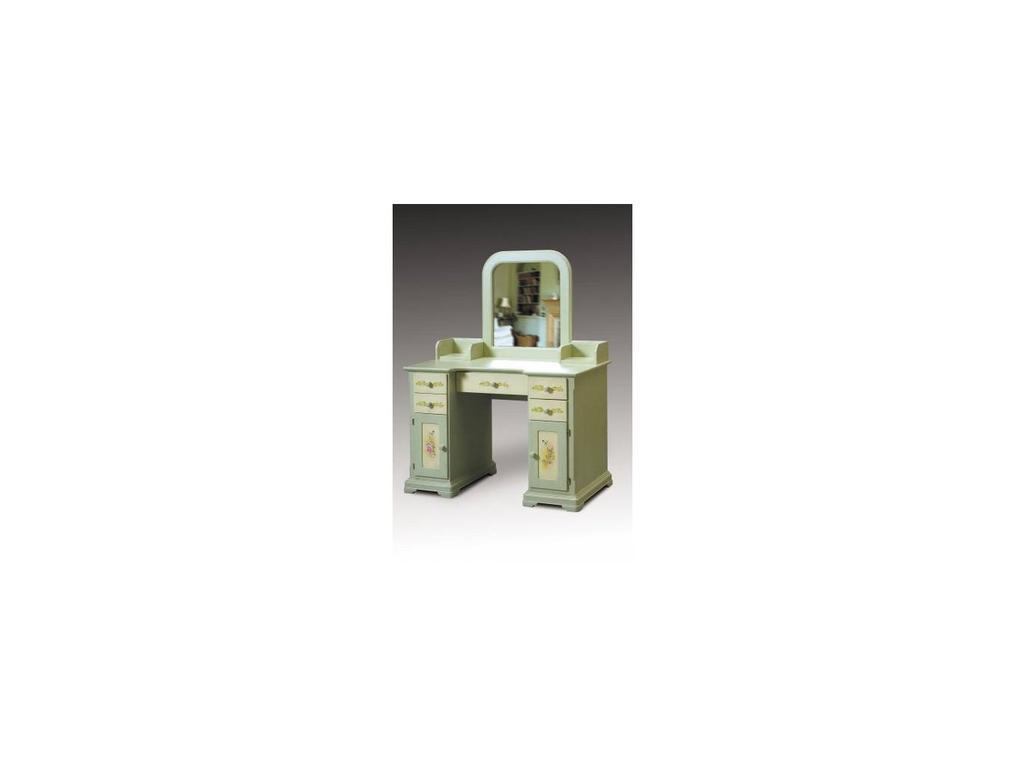 De Luxe: Примавера: стол туалетный (олива, беж, ручная роспись)