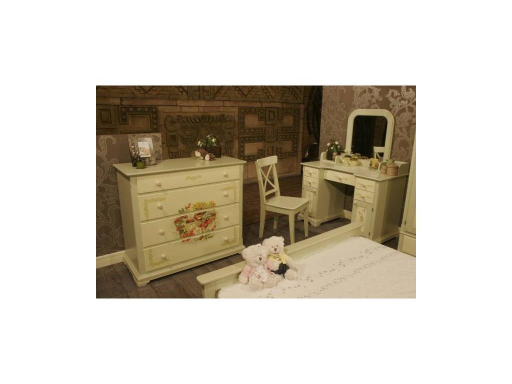 De Luxe: Примавера: стул (олива, беж, ручная роспись)