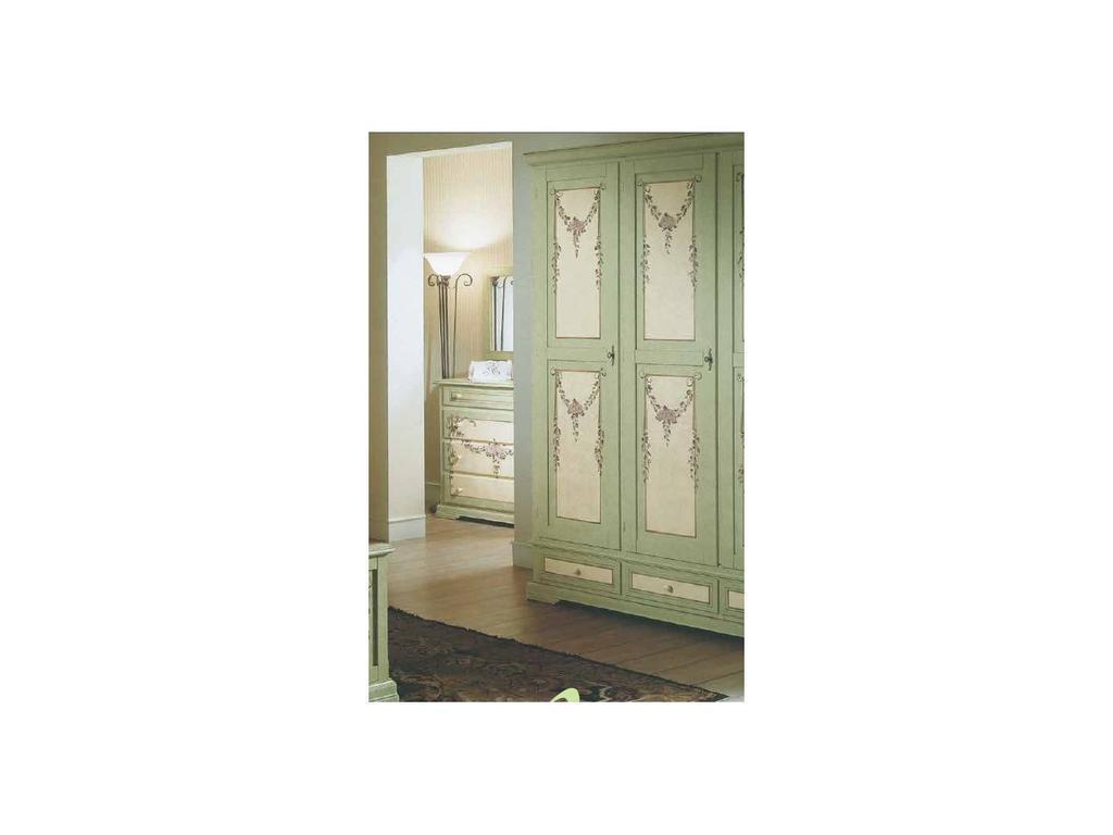 De Luxe: Примавера: шкаф 2-х дверный (олива, беж, ручная роспись)
