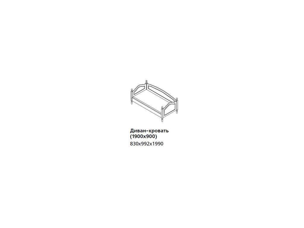 De Luxe: Любимая сказка: диван-кровать без ящиков (слоновая кость, без росписи)