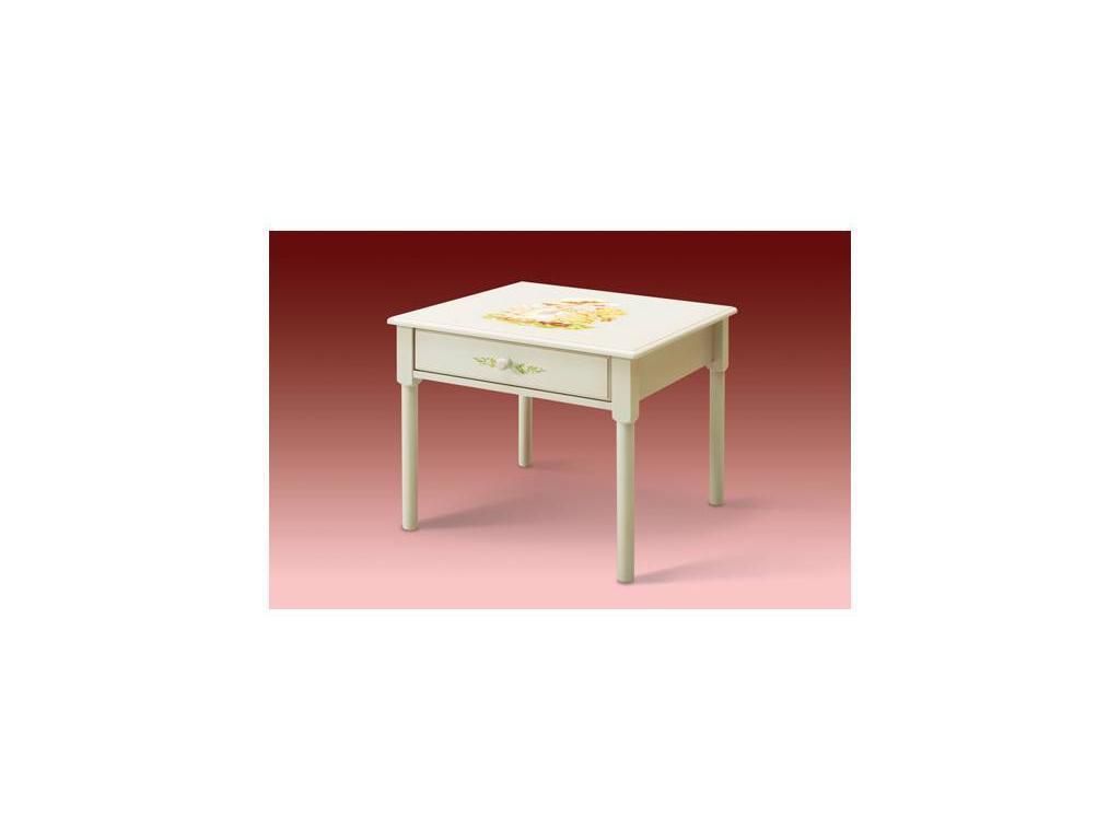 De Luxe: Любимая сказка: стол детский (слоновая кость, без росписи)