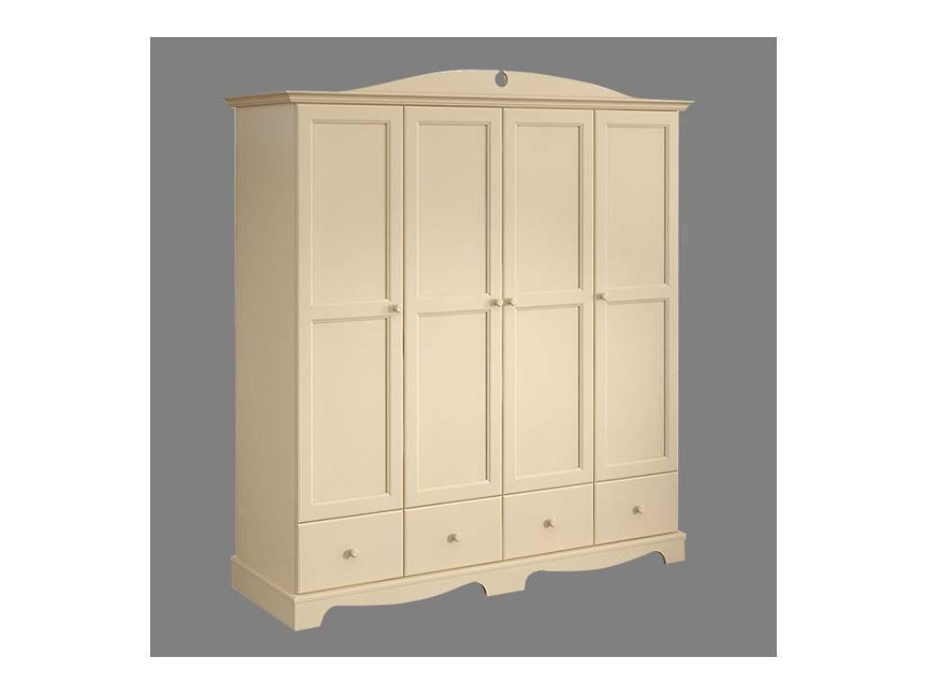 De Luxe: Любимая сказка: шкаф 4-х дверный (слоновая кость, без росписи)