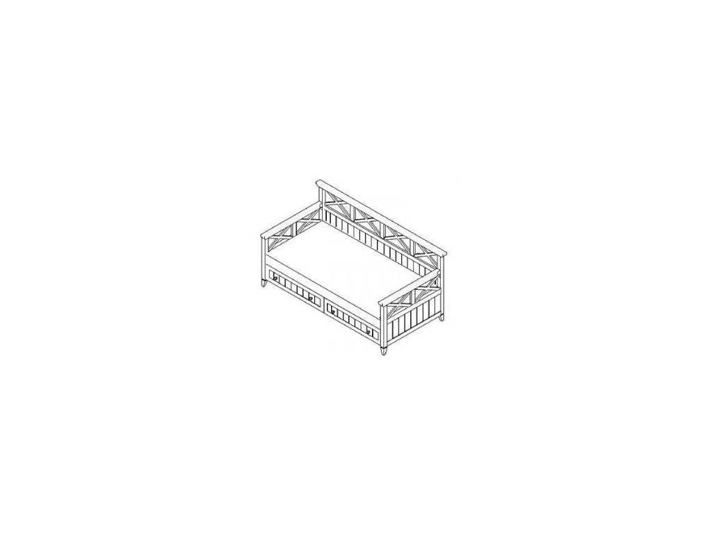 De Luxe: Океан: диван-кровать 90х200 с ящиками (белый)