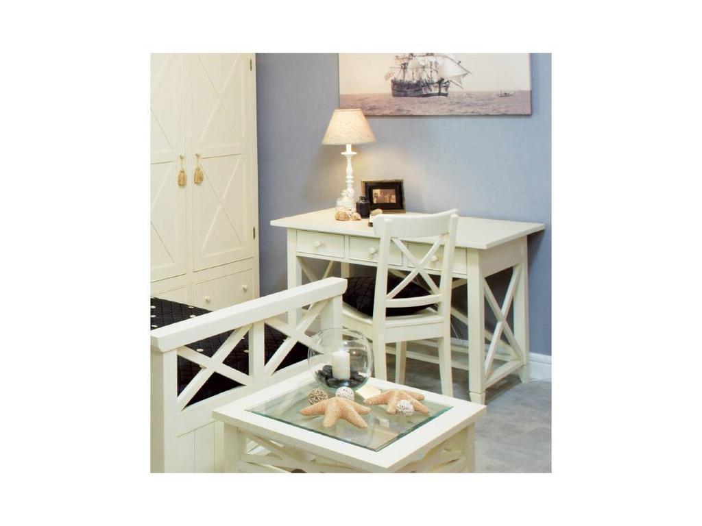 De Luxe: Океан: стол письменный (белый)